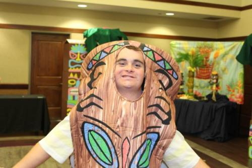The Tiki Costume is a big hit!